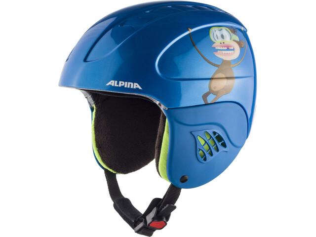 Alpina Carat Hiihtokypärä Lapset, blue-monkey